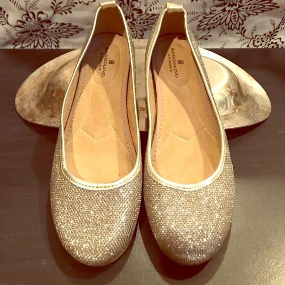 0d33ba82a2d0 Bandolino Shoes - Sparkling Gold Bandolino Comfort Flats 7.5